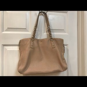 Tan cobble leather Kate spade purse great cond